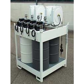 Frischölinsel elekt. für 4 x 200 L/Faß