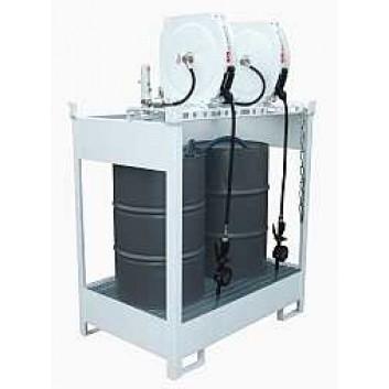 Frischölinsel pneumatisch für 2x200 L/DR